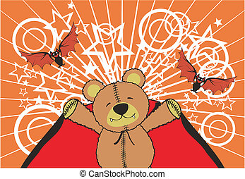 dracula teddy background