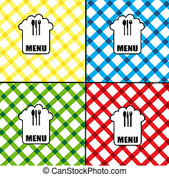 menu card design - Set of menu card designs in diferent...