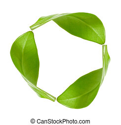 recycling symbol - eco green energy recycling isolated on...