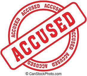 accused word stamp2 - accused word stamp in vector format