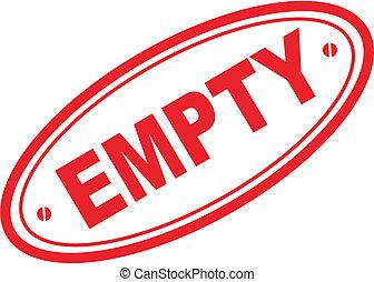 empty word stamp - empty in vector format