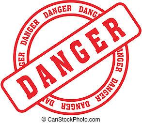 danger word stamp5 - danger in vector format