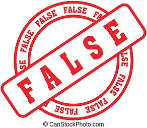 false word stamp9 - false in vector format