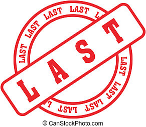 last word stamp - last in vector format