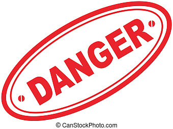 danger word stamp