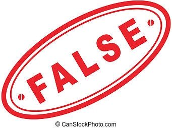 false word stamp7 - false in vector format