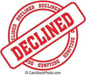 declined word stamp8 - declined in vector format
