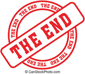 the end word stamp6 - the end  in vector format