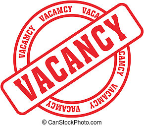 vacancy word stamp - vacancy in vector fromat