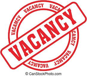 vacancy word stamp - vacancy  in vector fromat