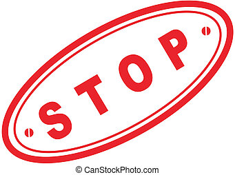 stop word stamp - stop in vector fromat