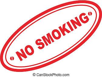 no smoking word stamp1