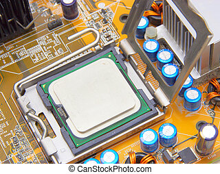 Processor on the computer motherboard - Processor on the...