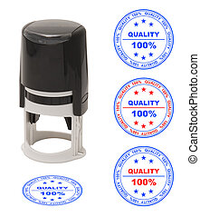 Stamp Quality1jpg - round stamp with the text quality 100...