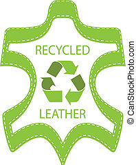 Recycle Leather Lable isolated