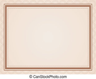 Blank Certificate in Shades of Brown