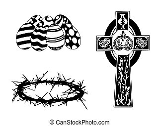 silhouette items for easter day - black silhouette items for...