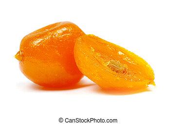 kumquat  - Dried kumquat isolated on a white background.
