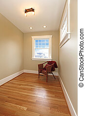 Small room or hallway with hardwood floor - Small cute old...