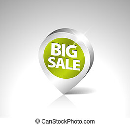 Round 3D pointer for big sale