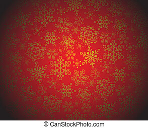 Red and golden christmas pattern