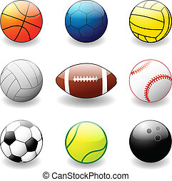 collection of sport balls