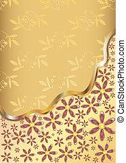 Gold flower background