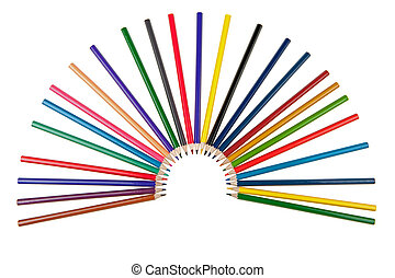 Set of color pencils It is isolated on a white background