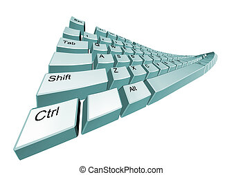 The bent computer keyboard