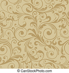 decoretive pattern background - floral seamless gold pattern...