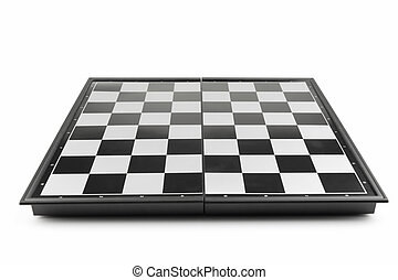 Chessboard view perspective It is isolated on a white...