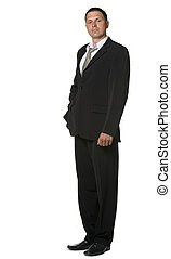 The businessman in a black suit