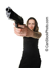 The woman with a pistol