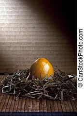 復活節, 巢, 蛋, 黃色