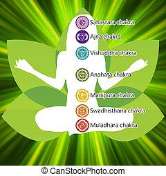 Yoga lotus template. EPS 8