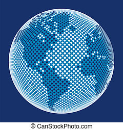Digital world vector - Highly detailed 3d world made from...