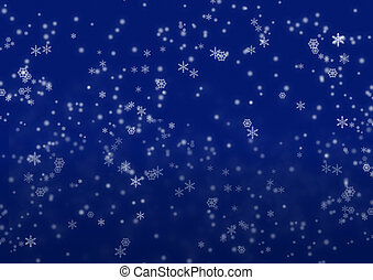 Christmas night Darkly dark blue background with snowflakes