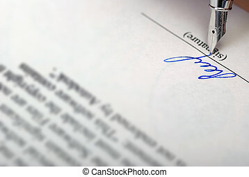 signature - The signature Acknowledgement of the document by...