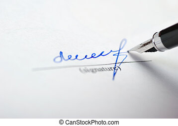 signature - The signature. Acknowledgement of the document...