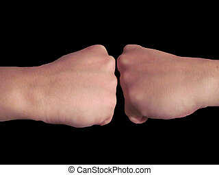 Punch is a severe and agressive opposition - Fist blow is a...