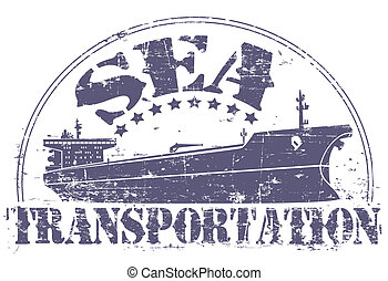 Sea transportation stamp