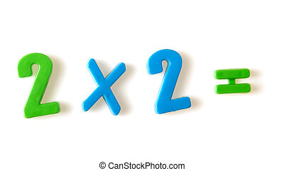 Two multiply on two The image of the various figures,...