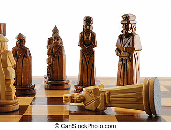 king death checkmate in a chess party Figures of a chess are...