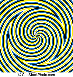Hypnotic Maze - Swirly shapes are featured in an abstract...