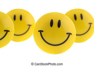 isolated smile - Smile. A smiling symbol from the plastic,...