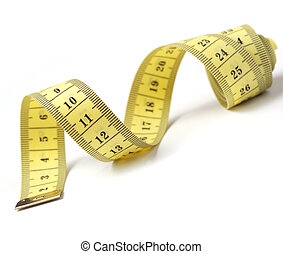 tailor measuring tape isolated - Measuring tape of the...