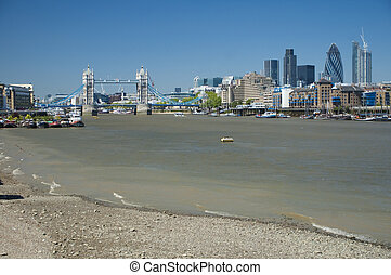 River Thames with London skyline in the background