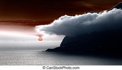 fantasia, tramonto