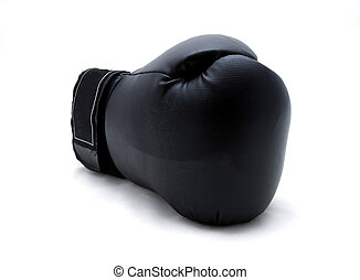 Single boxing glove - A single boxing glove on a white...