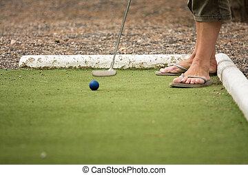 juego, midget, golf